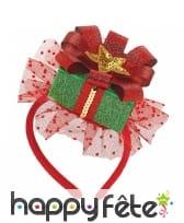 Serre-tête cadeaux de Noël