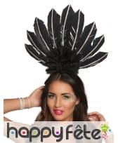 Serre tête coiffe brésilienne avec hautes plumes, image 1