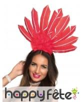 Serre tête coiffe brésilienne avec hautes plumes, image 2