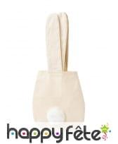 Sac tête de lapin beige en tissus de 34 cm, image 1