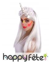 Serre tête de licorne fleurie femme