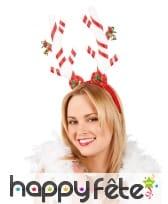 Serre-tête de Noël en sucre d'orge pour adulte