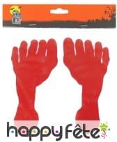 Sticker trace de pied en sang