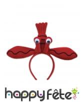 Serre-tête en forme de homard en peluche