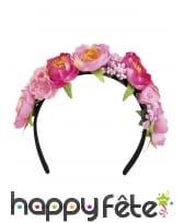 Serre-tête fleurs de lotus roses, image 1