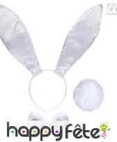 Serre tête lapin blanc paillettés géantes