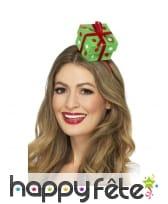 Serre tête paquet cadeau vert