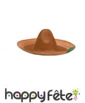 Sombrero uni en paille, image 2