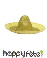 Sombrero uni en paille, image 1