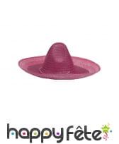 Sombrero uni en paille, image 3