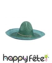 Sombrero uni en paille, image 4