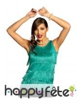 Top à franges turquoise pour femme