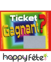 Tickets a gratter gagnant