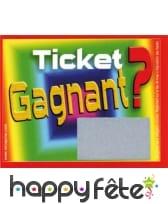 Tickets a gratter perdant