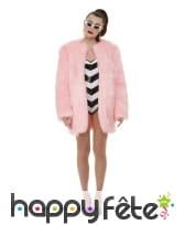 Tenue barbie avec manteau rose en fausse fourrure