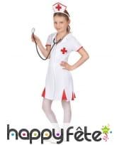 Tenue blanche d'infirmière pour enfant, image 1