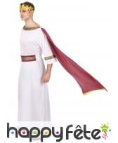 Tenue blanche de César avec toge rouge, image 1
