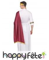 Tenue blanche de César avec toge rouge, image 2