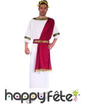 Tenue blanche de César avec toge rouge, image 3