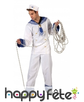 Tenue blanche de marin pour homme adulte