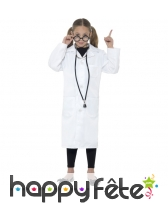 Tenue blanche de médecin scientifique pour enfant, image 1