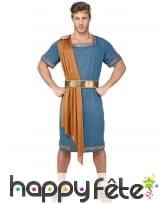 Tenue bleue d'empereur romain pour homme, image 1