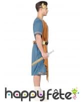 Tenue bleue d'empereur romain pour homme, image 2