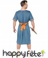 Tenue bleue d'empereur romain pour homme, image 3