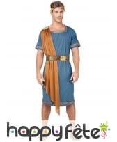 Tenue bleue d'empereur romain pour homme