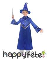 Tenue bleue de magicien pour enfant