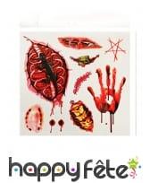 Tatouages blessures et insectes en sang
