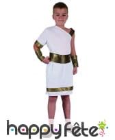 Toge blanche et dorée asymétrique pour enfant