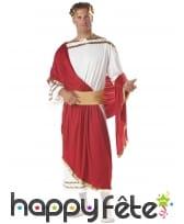 Tenue blanche rouge de César pour adulte