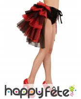 Tutu burlesque rouge et noir queue de pie