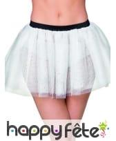 Tutu blanc semi transparent pour femme