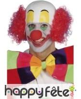 tête clown avec cheveux rouge