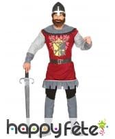 Tenue chevalier légende arthurienne pour adulte