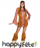 Tenue courte Peace and Love hippie pour femme