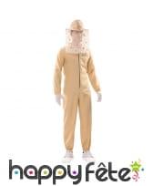 Tenue d'apiculteur à motifs abeille, adulte
