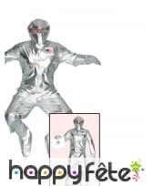 Tenue d'astronaute futuriste argenté pour adulte, image 1