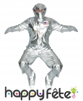 Tenue d'astronaute futuriste argenté pour adulte