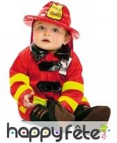 Tenue de bébé pompier