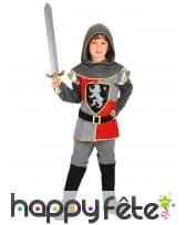 Tenue de chevalier de la renaissance pour enfant