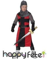 Tenue de chevalier médiéval pour petit garçon