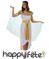 Tenue de Cléopâtre blanche et dorée, image 3