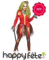 Tenue de clown en jupon déchiré pour femme