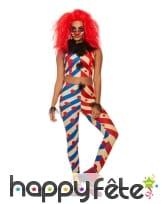 Tenue de clown maléfique moulante pour femme, image 1