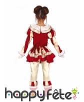 Tenue de clown rétro taché de sang pour fille, image 1