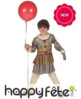 Tenue de clown vintage Halloween pour enfant, image 1