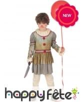 Tenue de clown vintage Halloween pour enfant